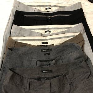EUC bundle of 6 Express Work Pants long & Capri